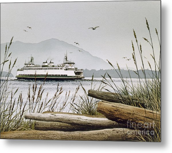 Pacific Northwest Ferry Metal Print