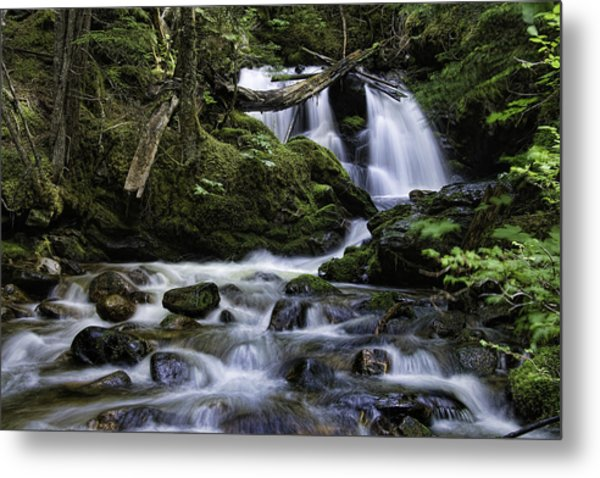 Packer Falls And Creek Metal Print