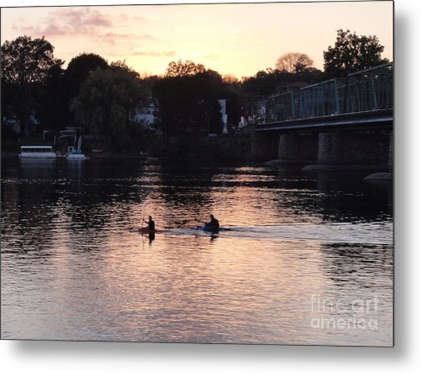 Paddling For Home Metal Print