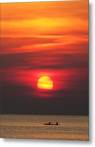 Paddling Under The Sun Metal Print