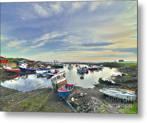 Paddy's Hole South Gare Teesside Metal Print