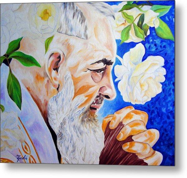 Padre Pio Metal Print