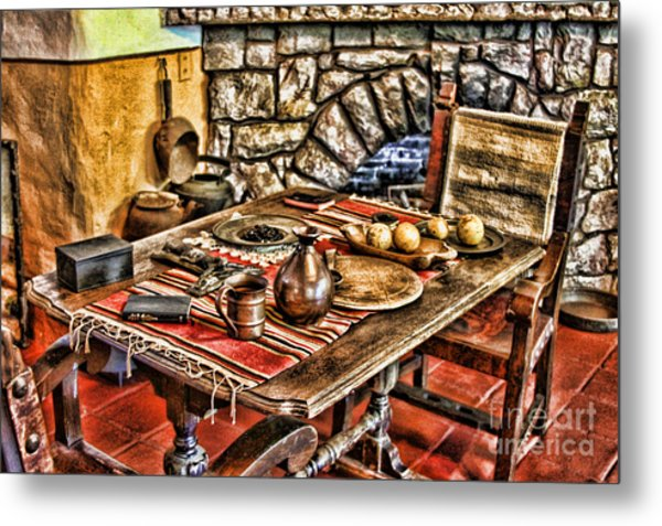 Padre's Table By Diana Sainz Metal Print