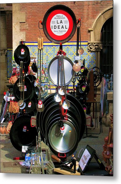Paella Valenciana Cookware Metal Print by Jacqueline M Lewis
