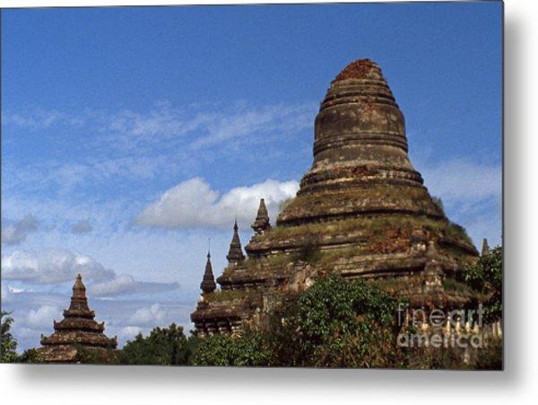 Pagan Burma Stupa Metal Print by Scott Shaw