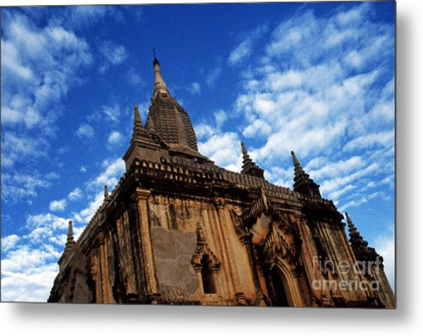 Pagan Burma Temple Metal Print by Scott Shaw