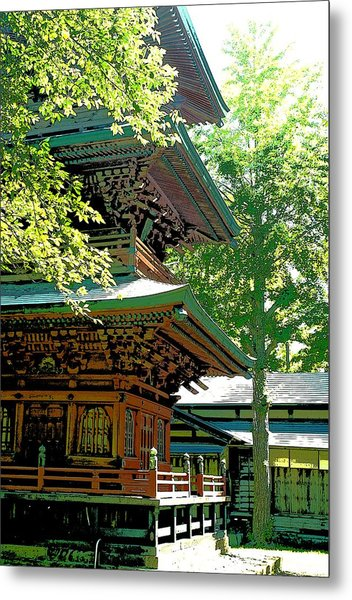 Pagoda Side View Metal Print