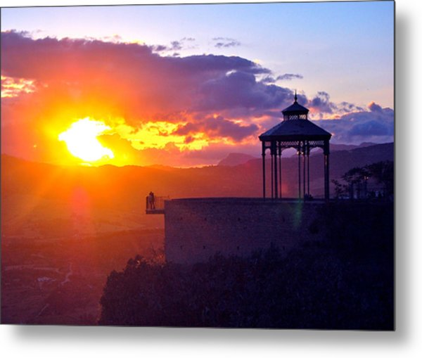 Metal Print featuring the photograph Pagoda Sunset by HweeYen Ong