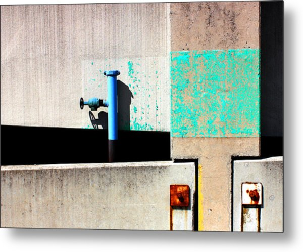 Paint And Pipe Abstract Industrial Decay Series No 003 Metal Print