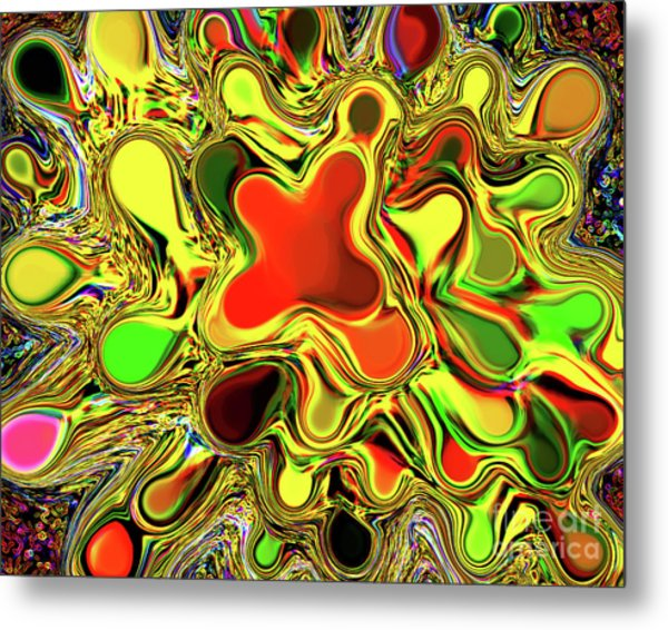 Paint Ball Color Explosion Metal Print