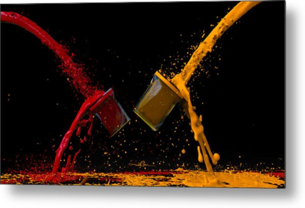 Paint Gone Wild Metal Print