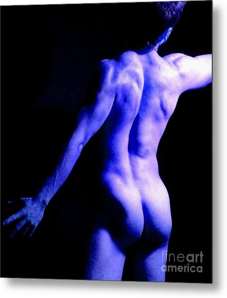 Paint Him Blue Metal Print