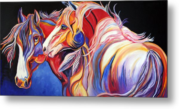 Paint Horse Colorful Spirits Metal Print