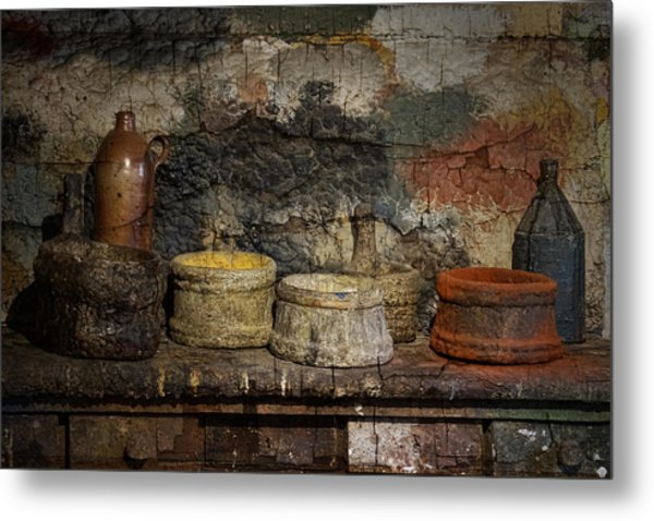 Paint Pots Metal Print
