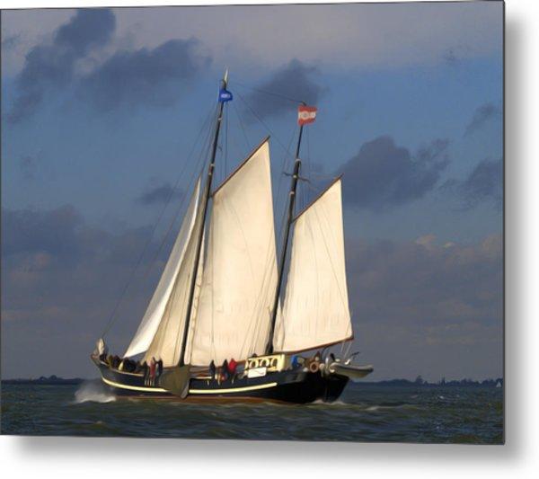 Paint Sail Metal Print