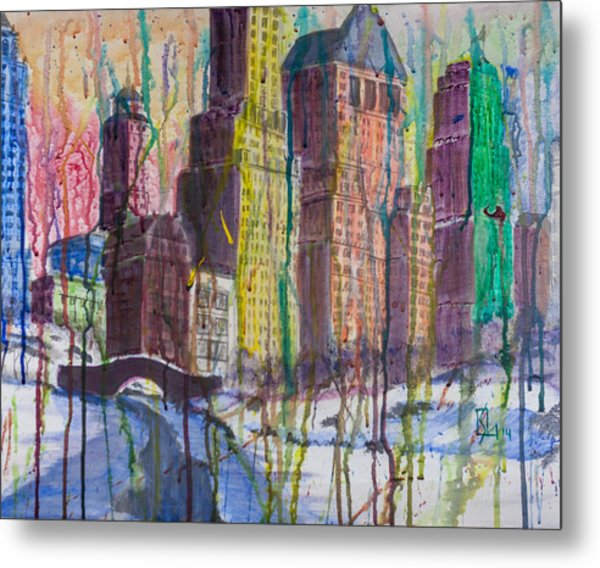 The Crying City Metal Print
