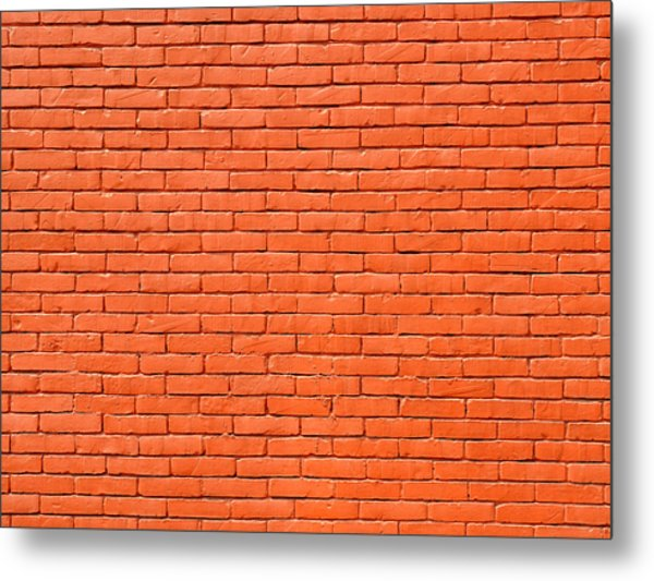 Painted Brick Wall Metal Print