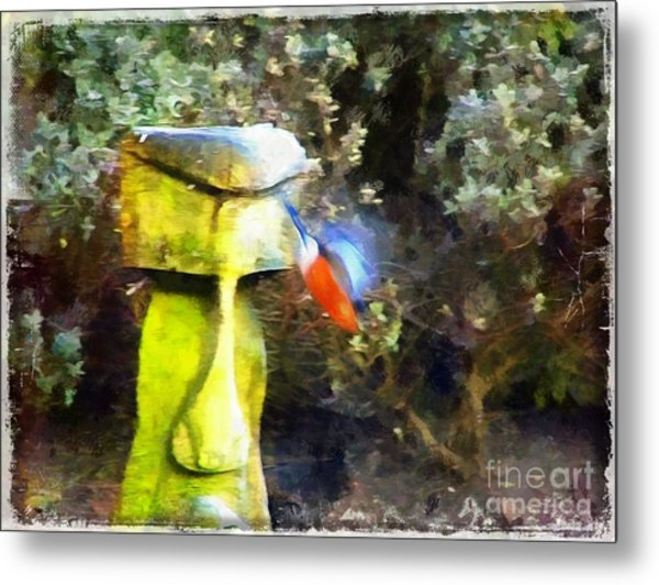 Painted Bullfinch S3 Metal Print