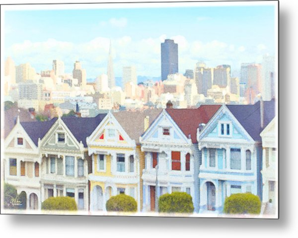 Painted Ladies Alamo Square San Francisco Metal Print