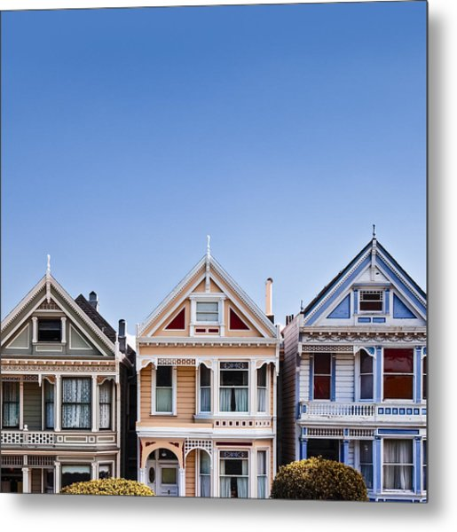Painted Ladies Metal Print