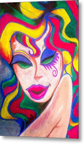 Painted Lady 3 Metal Print