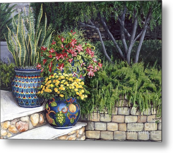 Painted Pots Metal Print