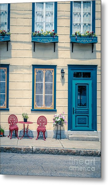 Painted Townhouse In Old Quebec City Metal Print