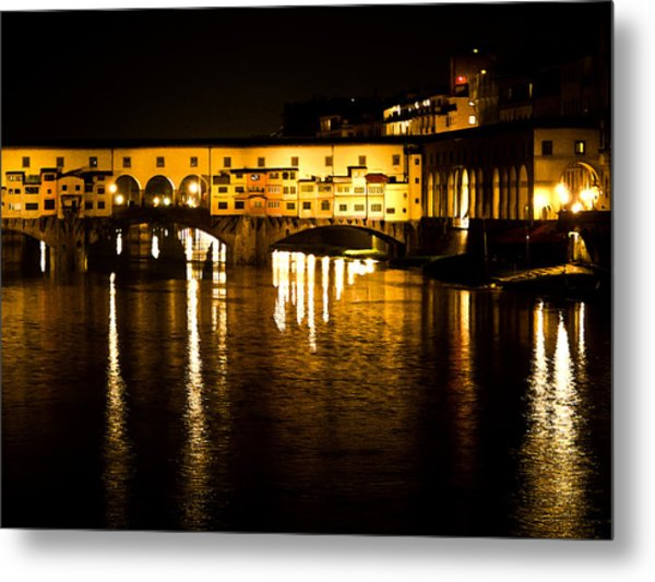 Painterly Ponte Vecchio Firenze Florence Italy Metal Print