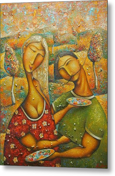 Painting Love Metal Print