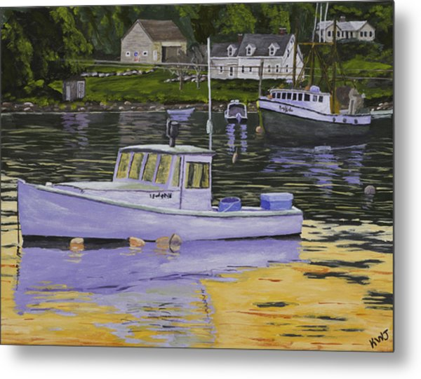 Fishing Boats In Port Clyde Maine Metal Print