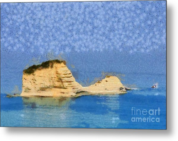Islet In Peroulades Area Metal Print