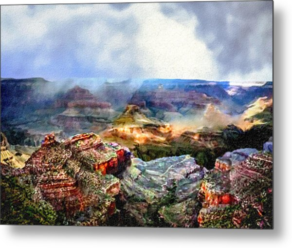 Painting The Grand Canyon Metal Print