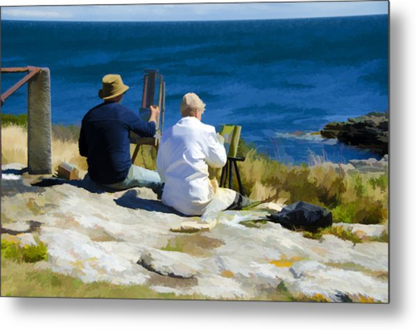 Painting The View Metal Print