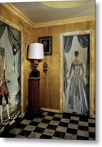 Paintings On The Walls Of Tony Duquette's House Metal Print