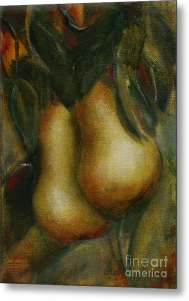 Pair De Pear Metal Print by Stella Violano