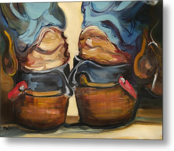 Pair Of Boots Metal Print
