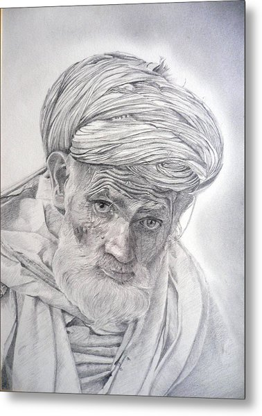 Pakistan Headman Metal Print