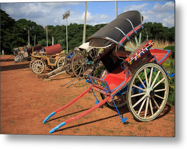Palace Carriages - India Metal Print