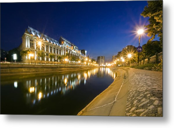Palace In Bucharest Metal Print by Ioan Panaite