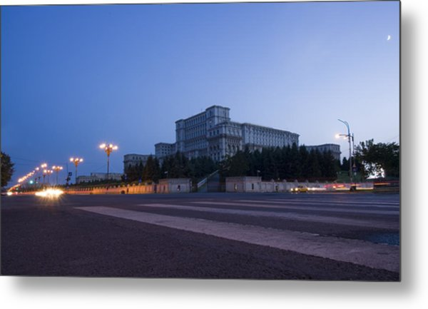 Palace Of The Parliament  Metal Print by Ioan Panaite