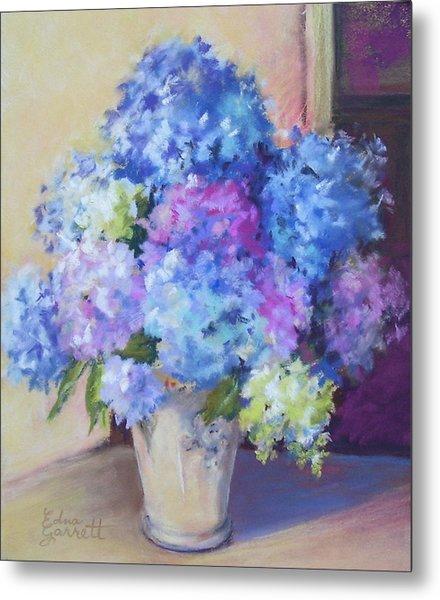 Pale Blue Hydrangeas  Metal Print