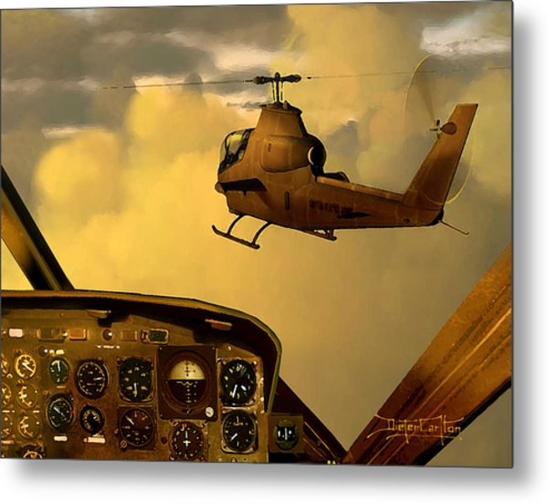 Palette Of The Aviator Metal Print