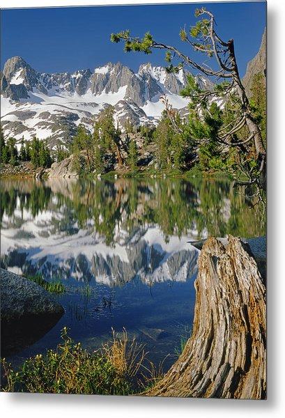 2m6443-v-palisade Peaks And Summit Lake V Metal Print