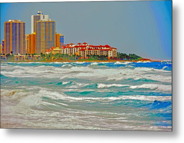 Palm Beach Post Card Metal Print