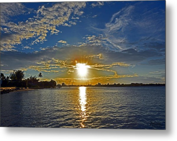 Palm Beach Sundown Metal Print