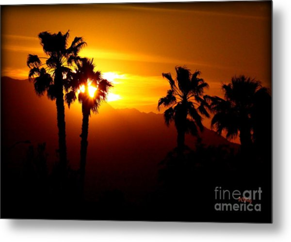 Palm Desert Sunset Metal Print