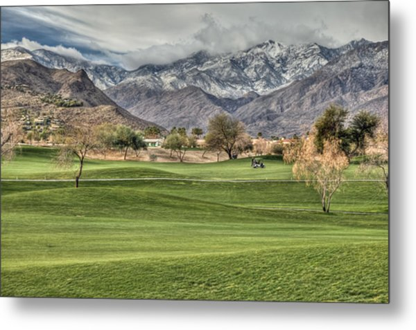 Palm Springs Winter Metal Print