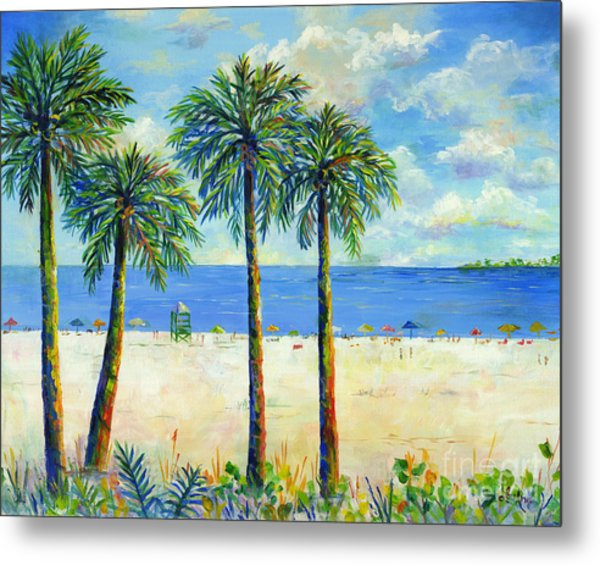 Palms On Siesta Key Beach Metal Print