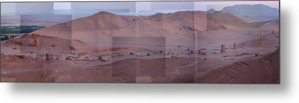 Palmyra Syria Valley Of The Tombs Metal Print