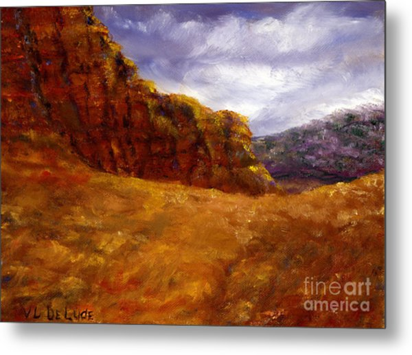 Palo Duro Canyon Texas Hand Painted Art Metal Print